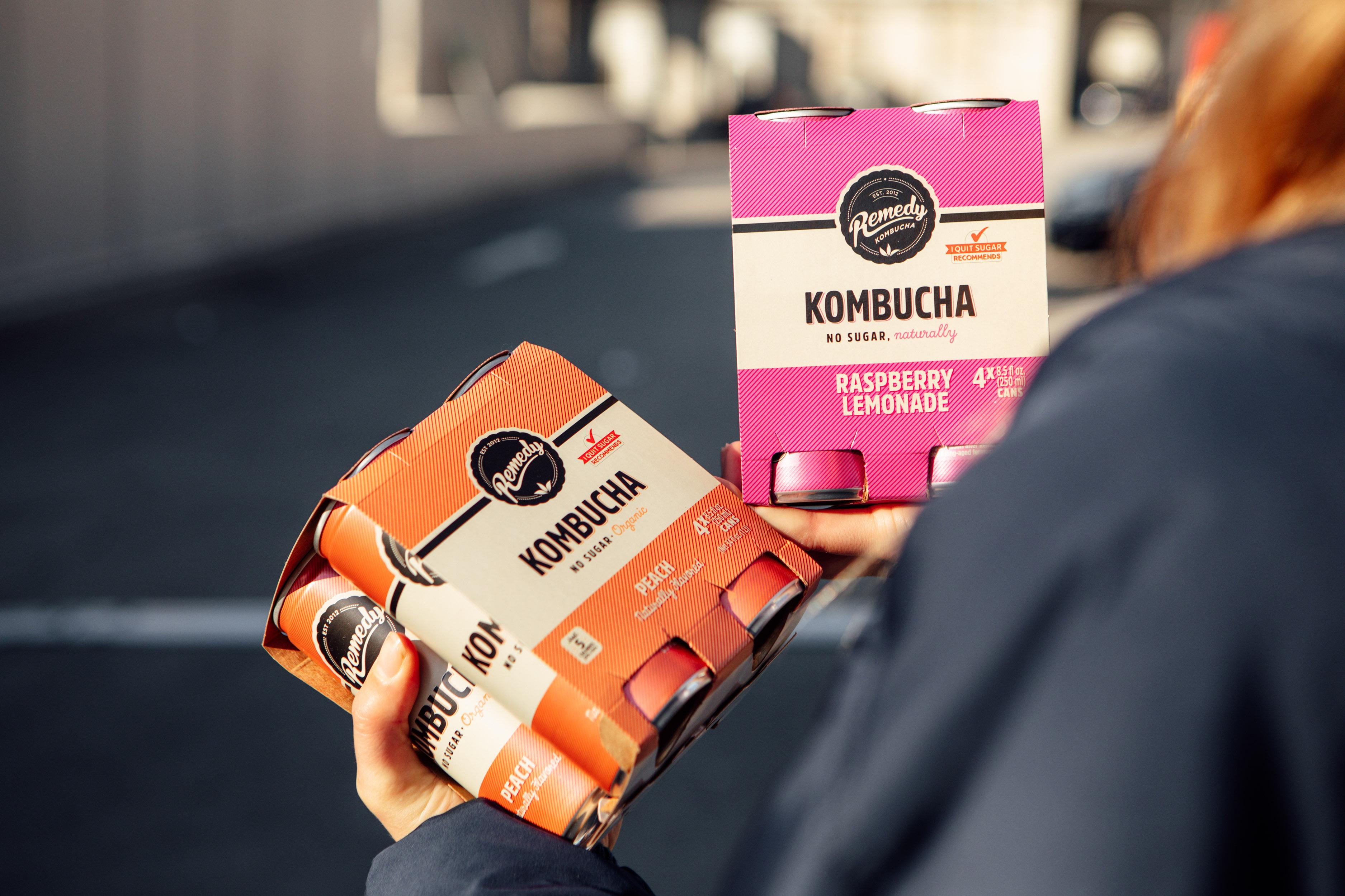 Remedy Kombucha Peach and Raspberry Lemonade