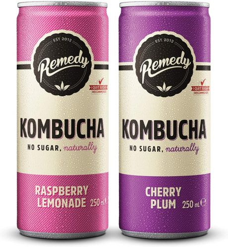 24 x Remedy Kombucha - Twin Pack - Raspberry Lemonade & Cherry Plum - 250ml Cans