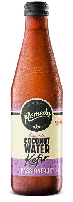 Remedy Coconut Water Kefir - Passionfruit 330ml Bottles