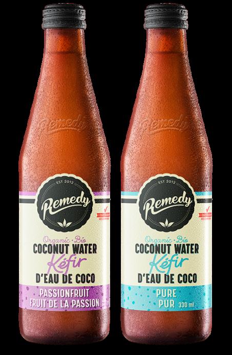 12 x Remedy Coconut Water Kefir - Mixed Case - 330ml Bottles