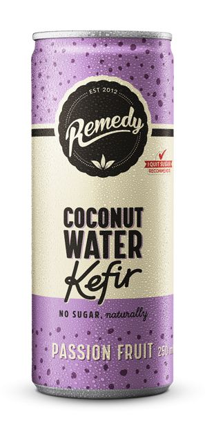 24 X Remedy Coconut Water Kefir - Passion Fruit - 250ml Cans