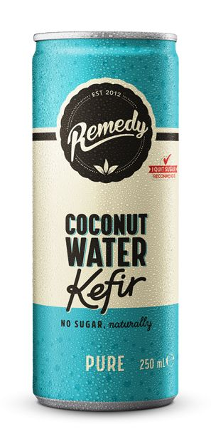 24 X REMEDY COCONUT WATER KEFIR - PURE - 250ML CANS