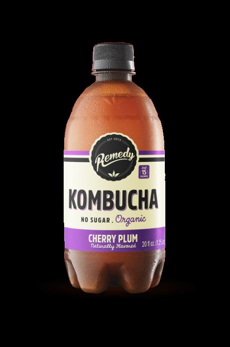 6 X Remedy Kombucha - Cherry Plum - 20 Fl Oz Bottles