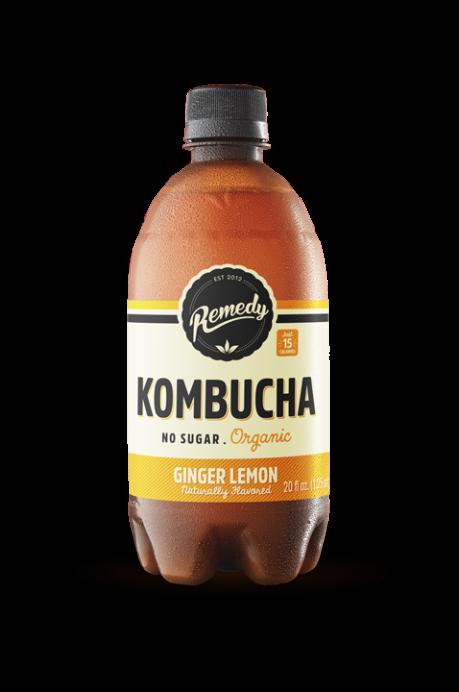 6 X Remedy Kombucha - Ginger Lemon - 20 Fl Oz Bottles