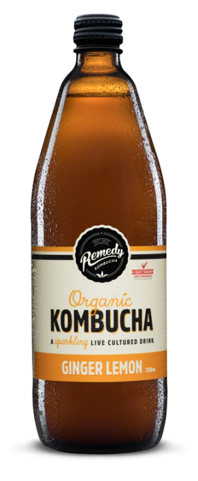 Remedy Kombucha - Ginger Lemon 750ml Bottle
