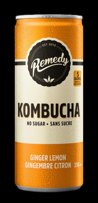Remedy Kombucha Ginger Lemon 330ml Cans