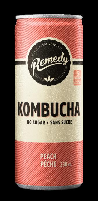 Remedy Kombucha 330ml Cans Peach