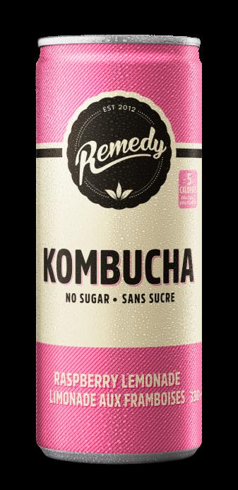 Remedy Kombucha Raspberry Lemonade 330ml Cans