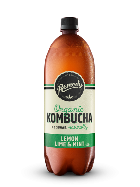 6 X Remedy Kombucha - Lemon Lime & Mint - 1.25L Bottles