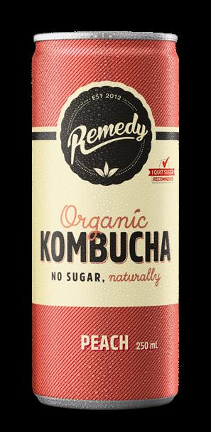 Remedy Kombucha - Peach Cans