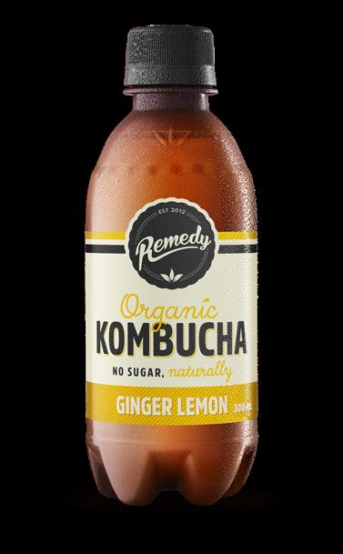 Remedy Kombucha - Ginger Lemon 300ml bottles