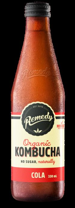 12 x Remedy Kombucha - Cola - 330ml Bottles