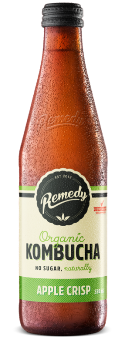Remedy Kombucha - Apple Crisp 330ml Bottle