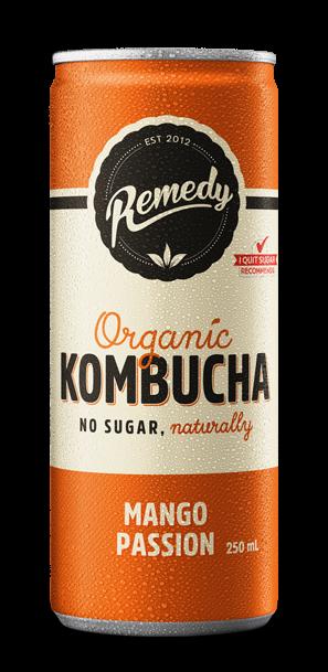24 x Remedy Kombucha - Mango Passion - 250ml Cans