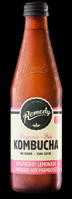 Remedy Kombucha - Raspberry Lemonade 330ml Bottle - French Canadian