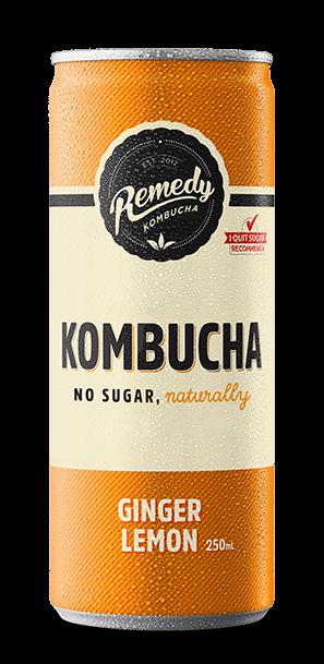 Remedy Kombucha - Ginger Lemon Can