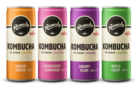 Remedy Kombucha Mixed Case of Cans