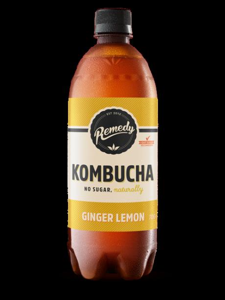 Remedy Kombucha Ginger Lemon 700ml bottle