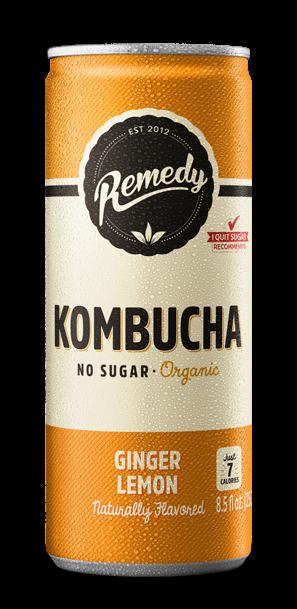 24 x Remedy Kombucha - Ginger Lemon - 8.5 Fl Oz Cans