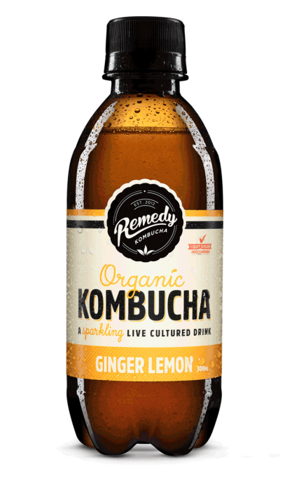 Remedy Kombucha - Ginger Lemon 300ml bottles