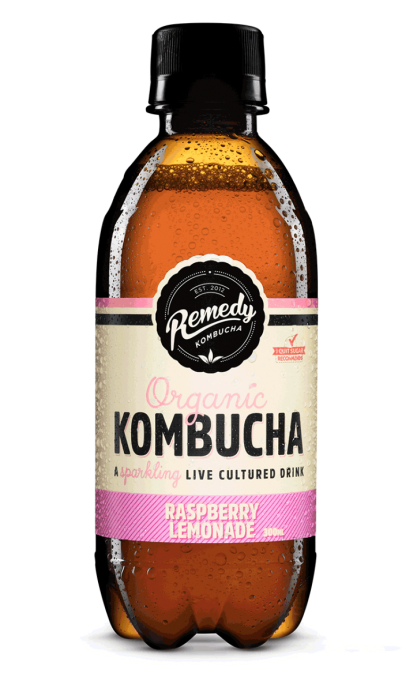Remedy Kombucha - Raspberry Lemonade 300ml Bottles