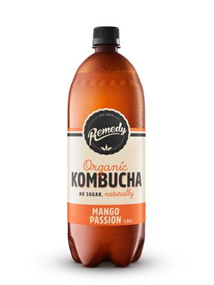 6 x Remedy Kombucha - Mango Passion - 1.25L Bottles