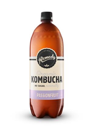 6 x Remedy Kombucha - Passionfruit - 1.25L Bottles