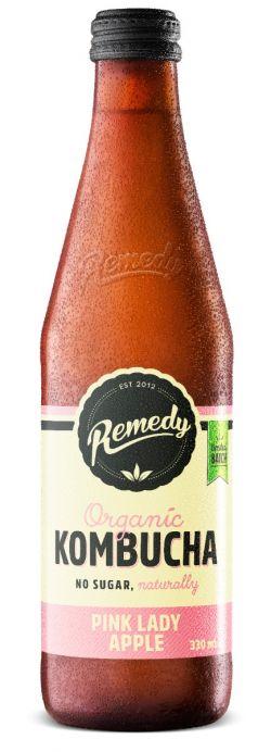 12 x Remedy Kombucha - Pink Lady - 330ml Bottles