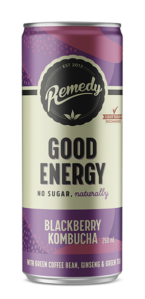 24 X Remedy Good Energy - Blackberry - 250ml Cans