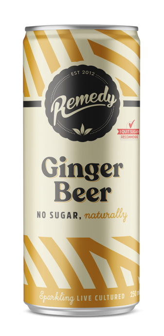 24 x Remedy Soda - Ginger Beer - 250ml Cans