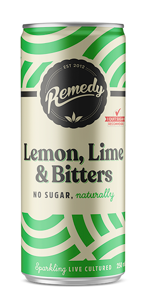 24 x Remedy Soda - Lemon, Lime & Bitters - 250ml Cans