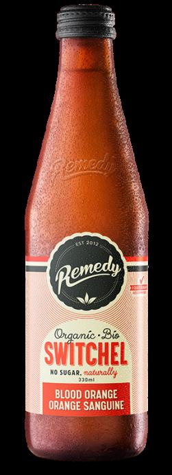 Remedy Switchel - Blood Orange 330ml - French Canadian Glass Bottle