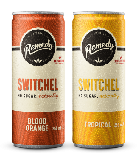 24 x Remedy Switchel Twin Pack - Blood Orange & Tropical 250ml Cans