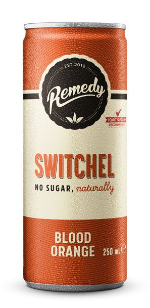 Remedy Switchel 250ml Blood Orange Cans