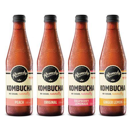 12 x Remedy Kombucha - Mixed Case - 330ml Bottles