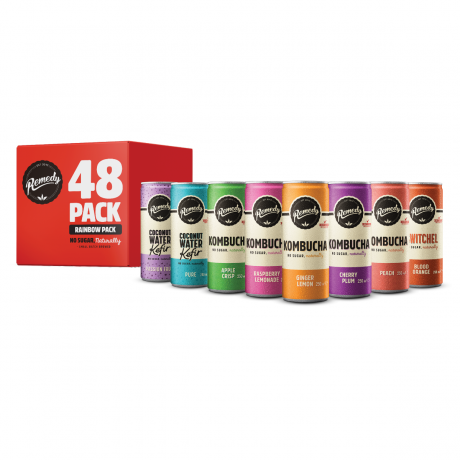 48 x Remedy Rainbow Big Sipper Pack - 250ml Cans