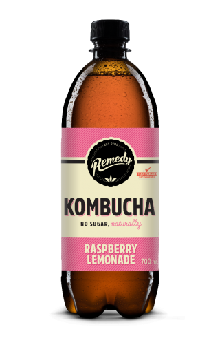 6 x Remedy Kombucha - Raspberry Lemonade - 700ml Bottles