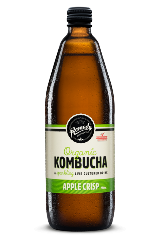 12 x Remedy Kombucha - Apple Crisp - 750ml Bottles