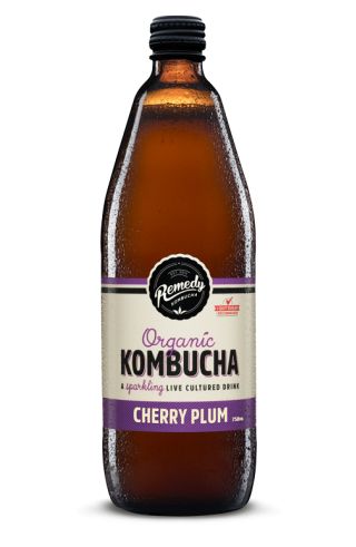 Remedy Kombucha - Cherry Plum 750ml Bottle