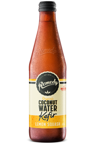 Remedy Coconut Water Kefir - Lemon Squash 330ml Bottle