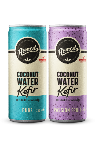 24 x Remedy Coconut Water Kefir - Twin Pack - 250ml Cans