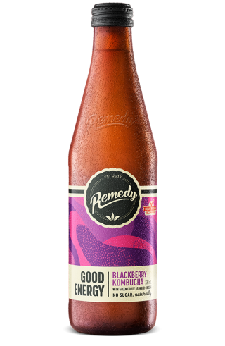 Remedy Good Energy - Blackberry 330ml Glass Bottle
