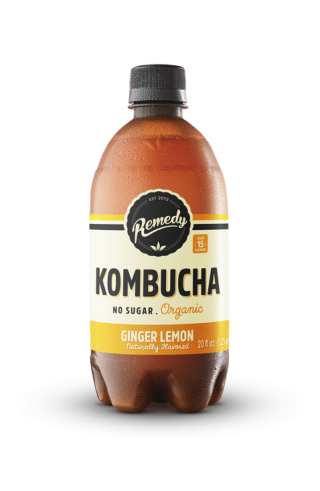 6 X Remedy Kombucha - Ginger Lemon - 20 Fl Oz Bottles
