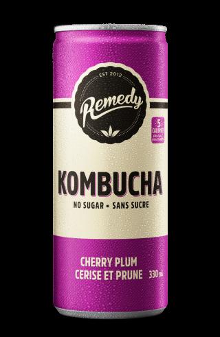 Cherry Plum Remedy Kombucha Cans