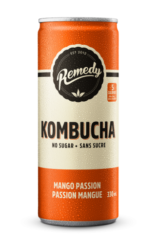 Mango Passion Kombucha Cans