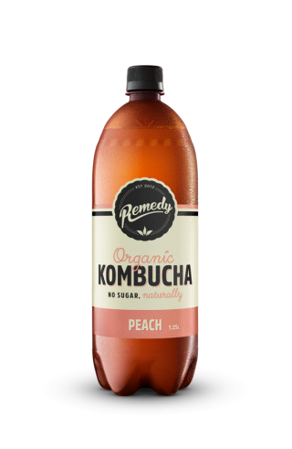 6 X Remedy Kombucha - Peach - 1.25L Bottles