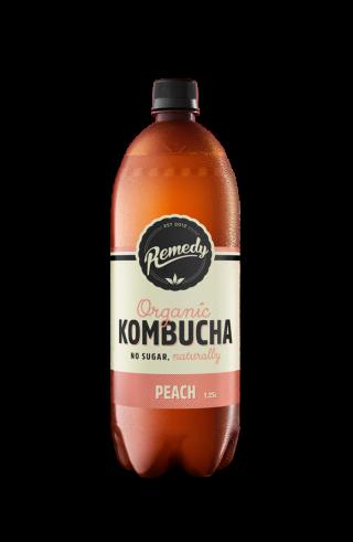 6 X Remedy Kombucha - Peach - 1.25L Bottles