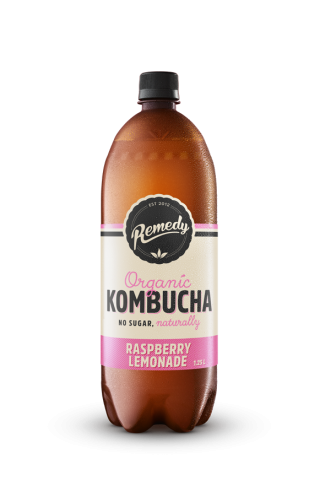 6 X Remedy Kombucha - Raspberry Lemonade - 1.25L Bottles
