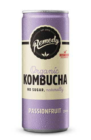 24 x Remedy Kombucha - Passionfruit - 250ml Cans