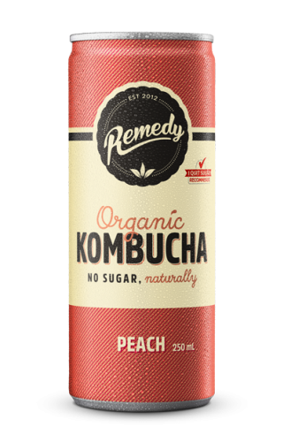 Remedy Kombucha - Peach Cans